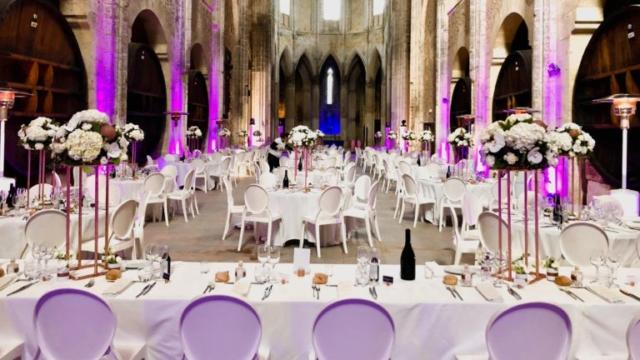 Mise en lumière abbaye de valmagne Dimfeel Event's