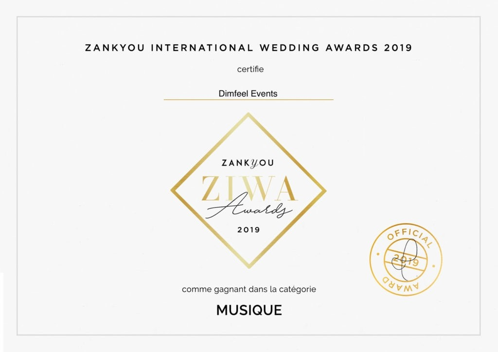 Ziwa award, Zankyou dimfeel events, musique