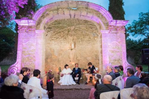 Mise en lumière  Cérémonie Château de Lignan